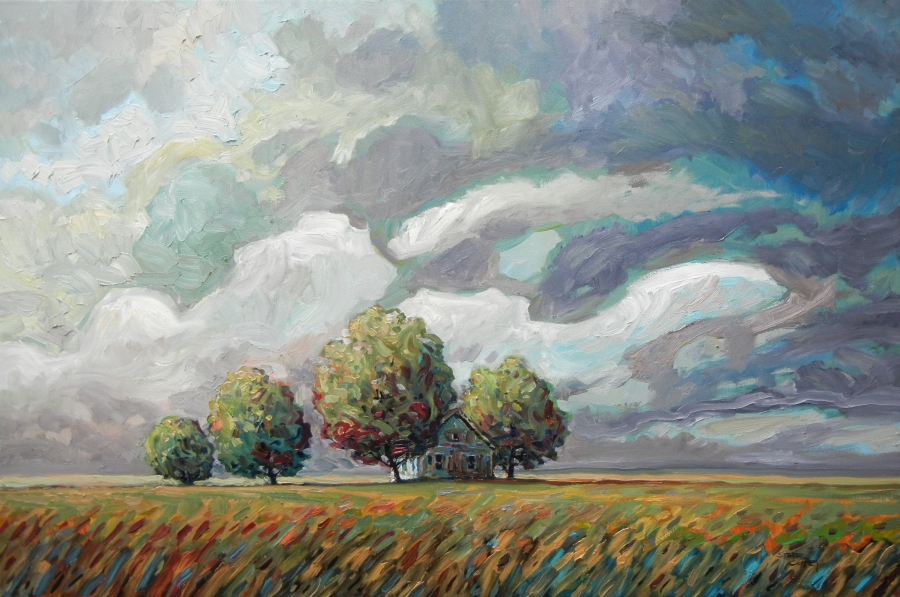 Late Passing Rain, Oil 24 X 36 $2640 without frame $2840 with frame