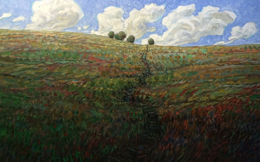 Trail to Trees, Oil 30 X 48 $3430 without frame $3730 with frame