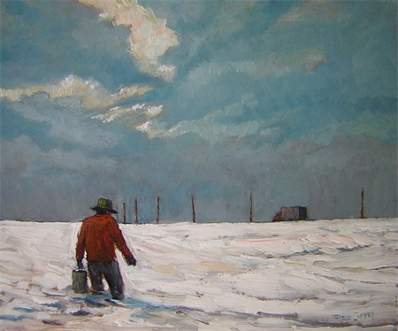 Winter Breakdown, Oil 10 X 12 $970 without frame $1100 with frame