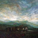 Sunset Caboose, Oil 24 X 24 $2110