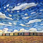 The Morning Train, Oil 16 X 40 $2465