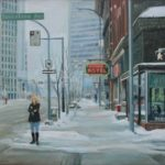Winter Hotel  27 x 33 oil on canvas $3000.00