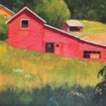 The Add-On Barn 16 x 20 Oil on Panel $2100